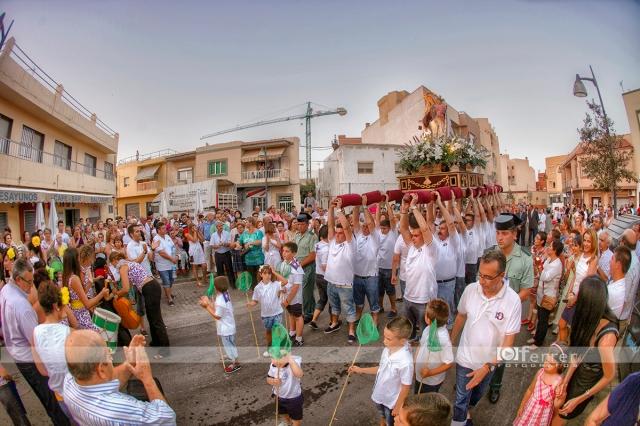 Emotiva parada de la Virgen del Carmen Balerma año 2012