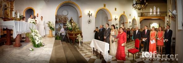 Iglesia de La Rabita en la boda de Merche y seba