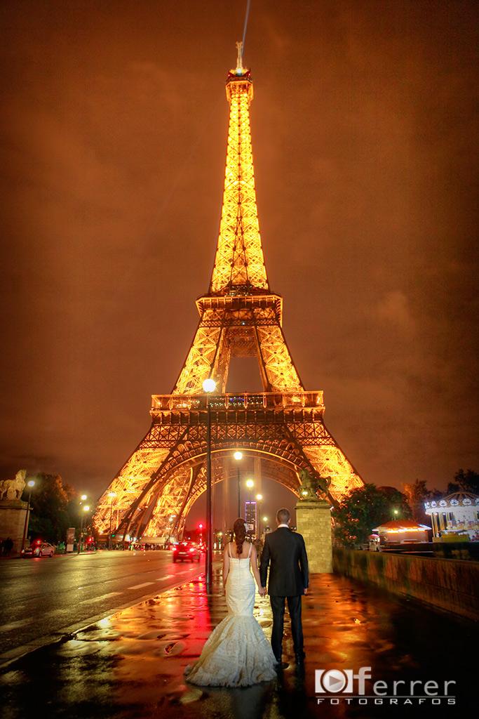 Boda en Paris torre eiffel