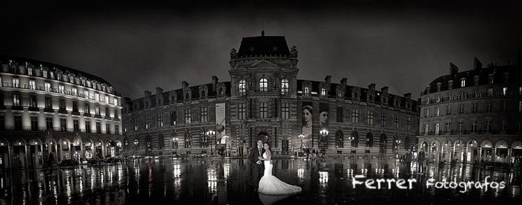 Boda en Paris museo de louvre