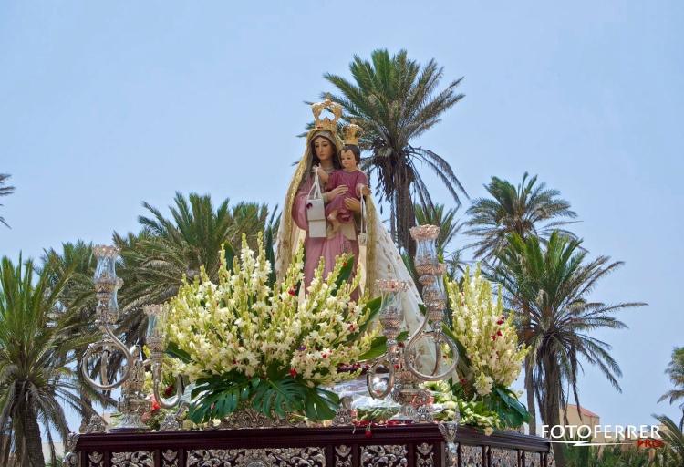 Imagen de la Virgen de las Mercdes Balerma